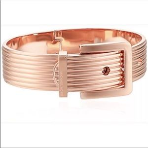 Michael Kors Rose Gold  Hinged Buckle Bracelet